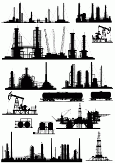 Industries Collection Free CDR Vectors Art