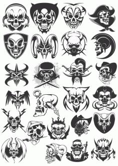 Skulls Dead Collection Free CDR Vectors Art