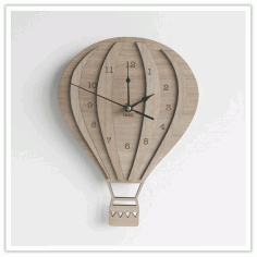 Ballon Clock Free CDR Vectors Art