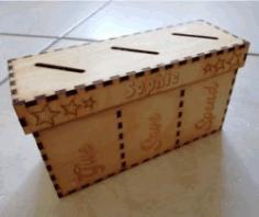 Money Saving Box File Download For Laser Cut Free CDR Vectors Art