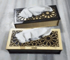 Napkin Box File Download For Laser Cut Free CDR Vectors Art