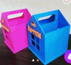 Pencil Box House File Download For Laser Cut Free CDR Vectors Art